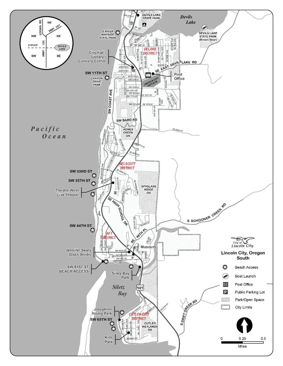 Area Map Blue Pacific Vacation Rentals