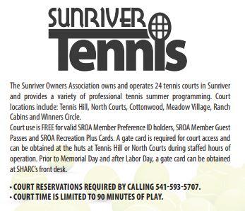 sunriver tennis